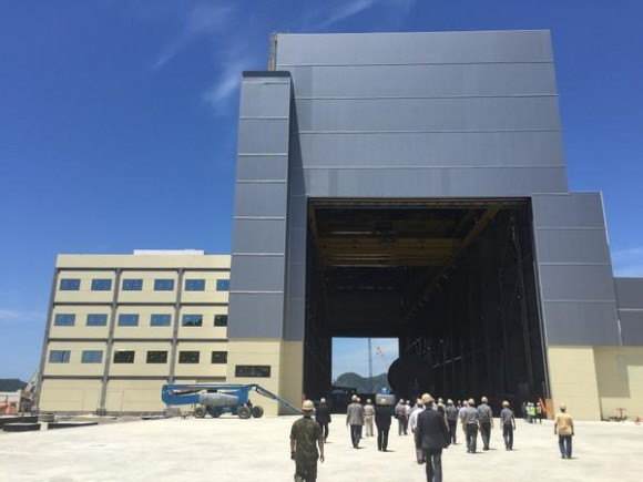 Inauguração prédio principal estaleiro submarinos - foto via Blog do Planalto