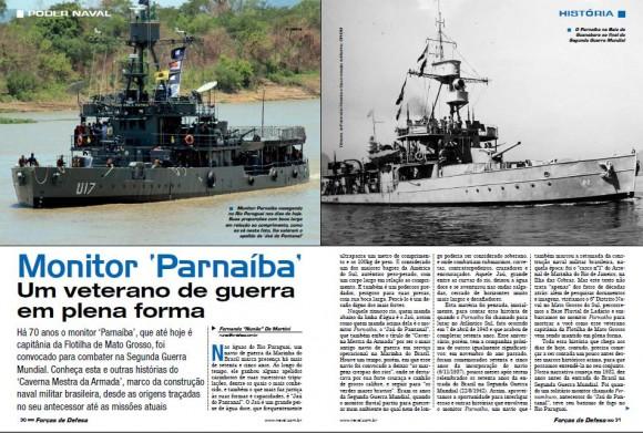 Imagem abertura matéria monitor Parnaíba revista Forças de Defesa 8