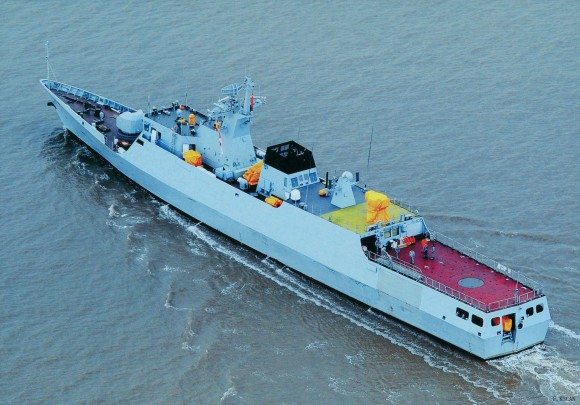 Mais uma Type 056 - em provas de mar