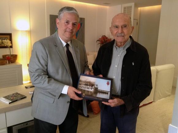 Roberto Lopes e o Almirante Alfredo Karan