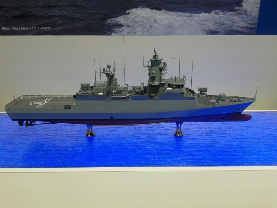 Maquete da corveta alemã K130