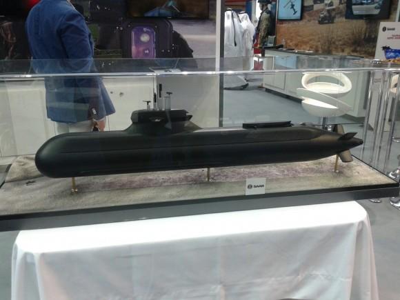 Maquete de submarino da Saab