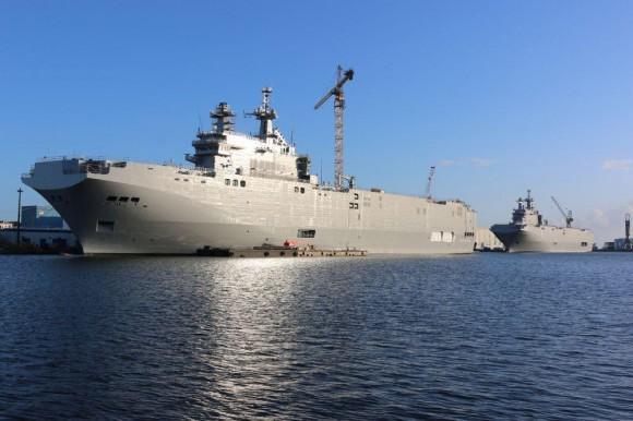 Os dois navios da classe Mistral destinados à Rússia