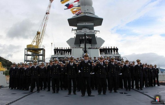 Incorporação FREMM Carabinieri - foto Marinha Italiana