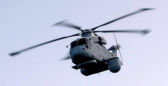 Helicóptero Merlin - seleção radar Thales Searchwater e sistema Cerberus - imagem Thales via MD UK