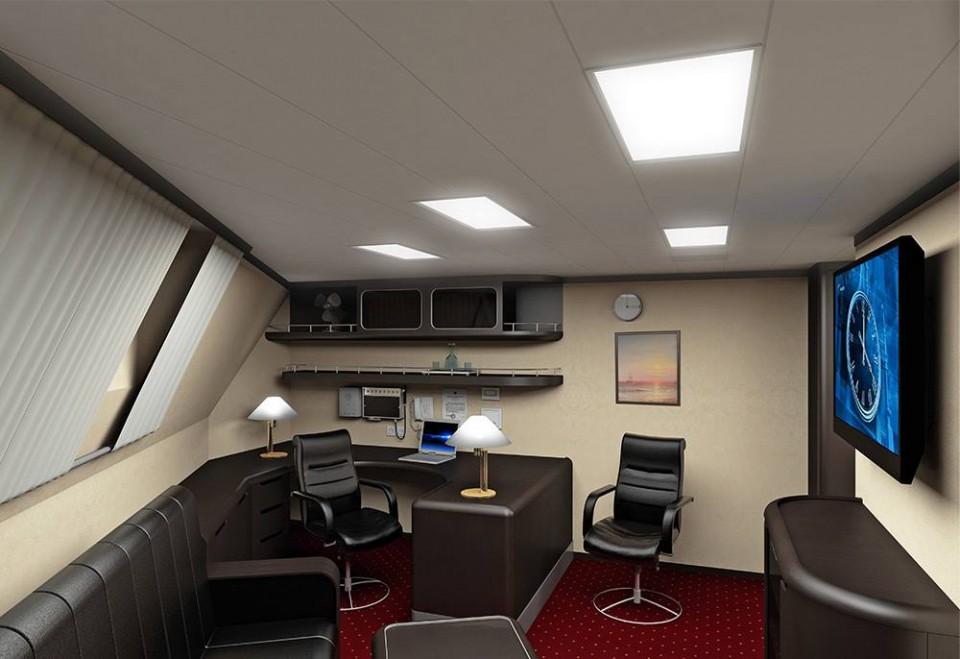 Projeto 22100 - camarote do comandante