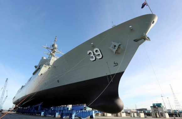 lançamento Hobart da RAN - foto Marinha Australiana