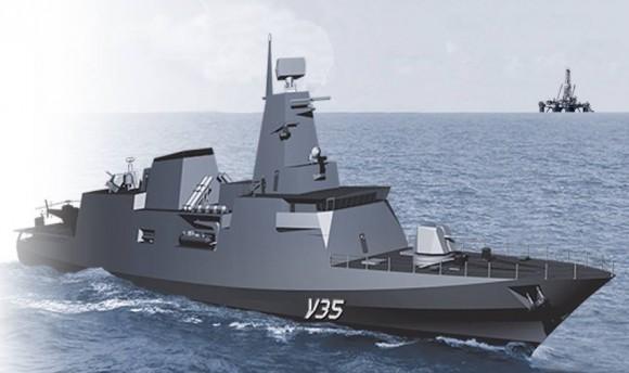 Corveta Tamandaré - V35 - programa CV03 - ilustração Marinha do Brasil