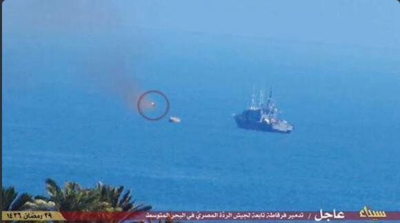 Ataque do IS a navio da marinha egípcia - 1
