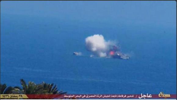 Ataque do IS a navio da marinha egípcia - 3