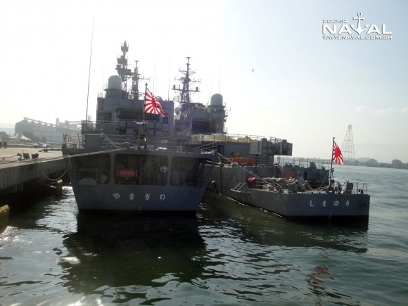 Visita navios japoneses Santos 7-8-2015 - foto 2 Poder Naval