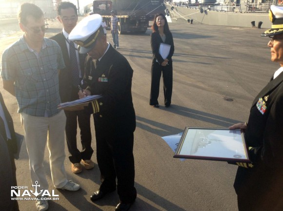 Visita navios japoneses Santos 7-8-2015 - foto 36 Poder Naval