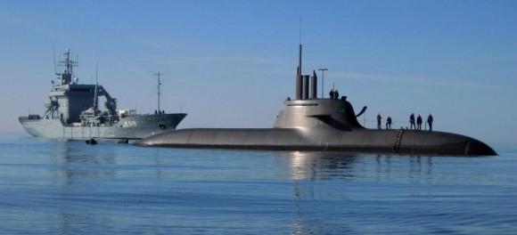 Submarino Type 212 - U31 - foto Marinha Alema