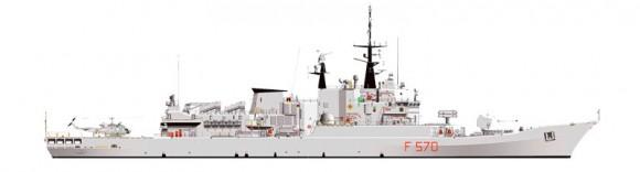 Maestrale Silhueta - imagem Marinha Italiana