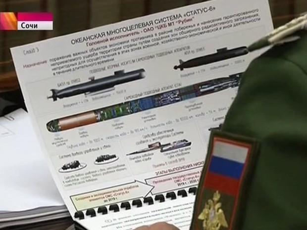 torpedo nuclear russo na TV