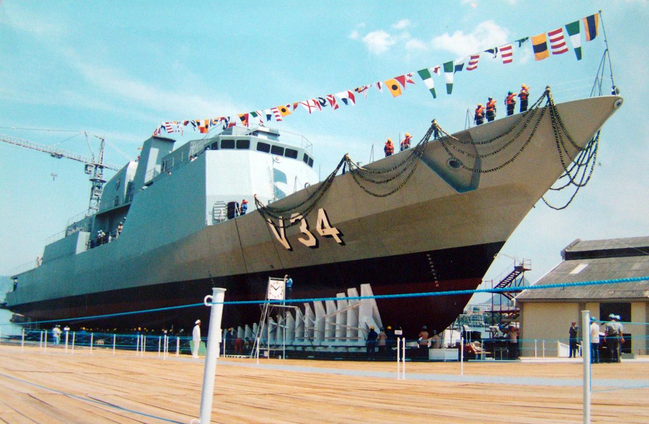 Lançamento da corveta Barroso no AMRJ - Foto: DPHDM