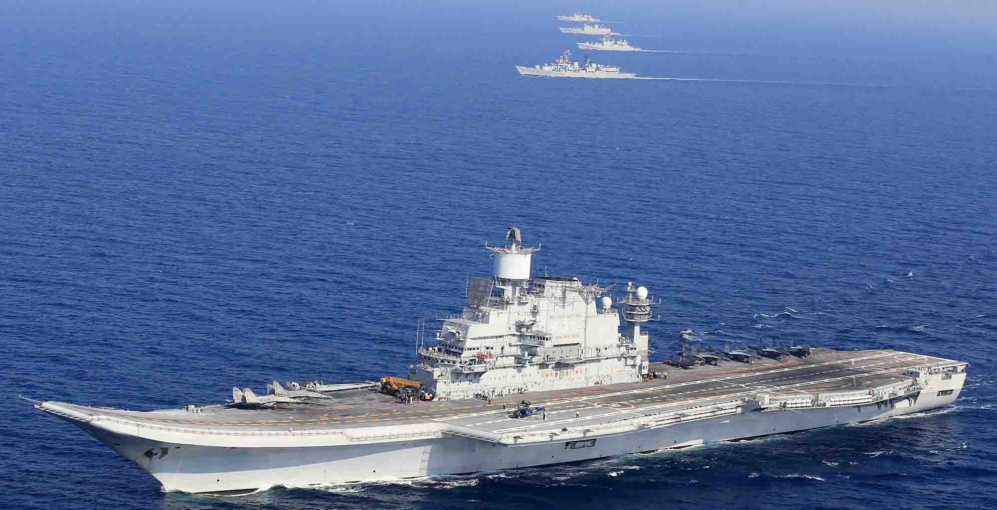 Vikramaditya liderando força-tarefa indiana