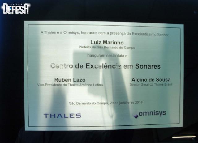 Thales inaug centro sonares - cerimonia 12 - foto Fernando Nunao - Poder Naval