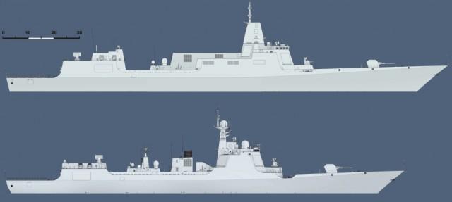 Type 055 e 052