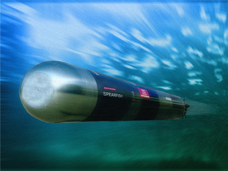 A classe Astute é equipada com torpedos Spearfish que substituiu os Tigerfish