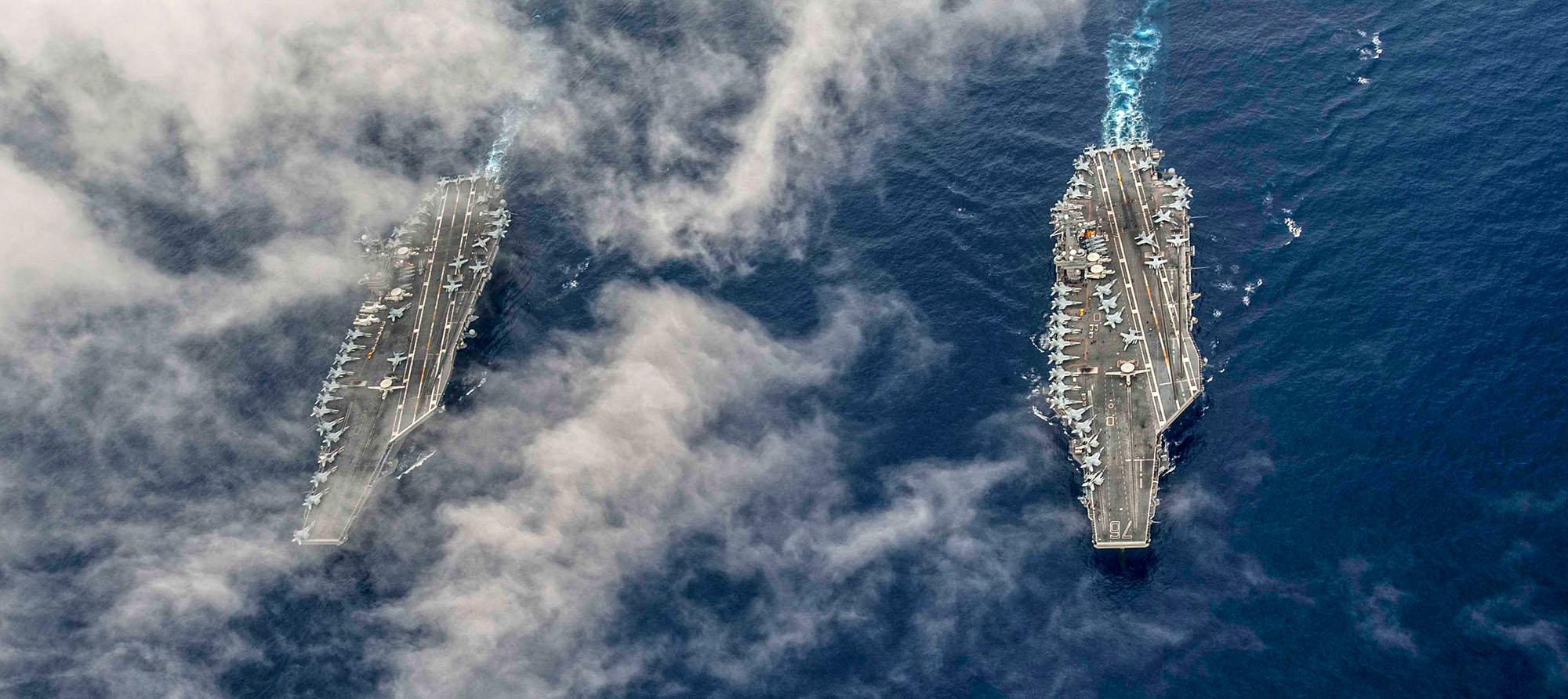 USS John C. Stennis (CVN 74) and USS Ronald Reagan (CVN 76) - 4