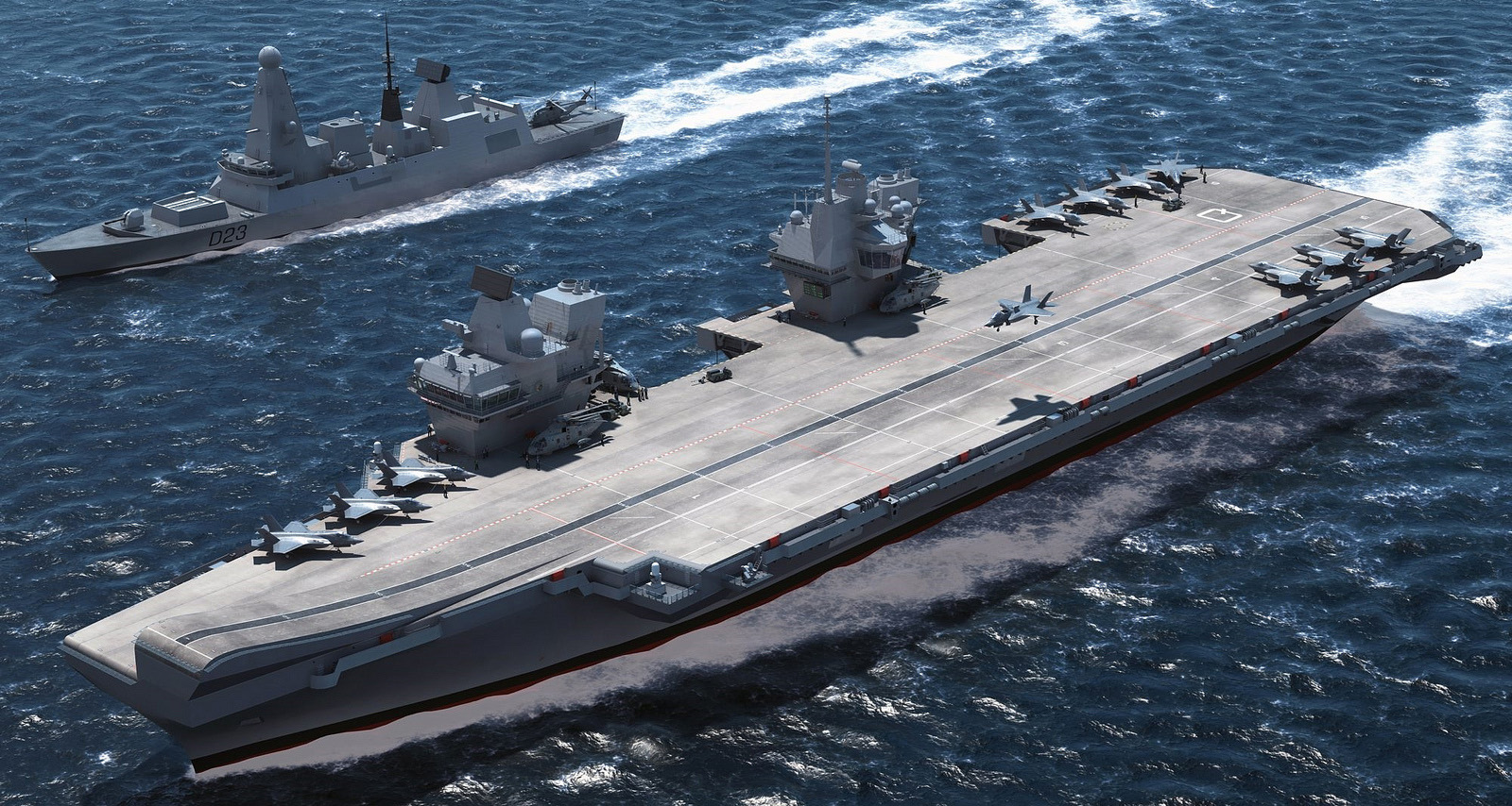 HMS Queen Elizabeth e destroyer Type 45