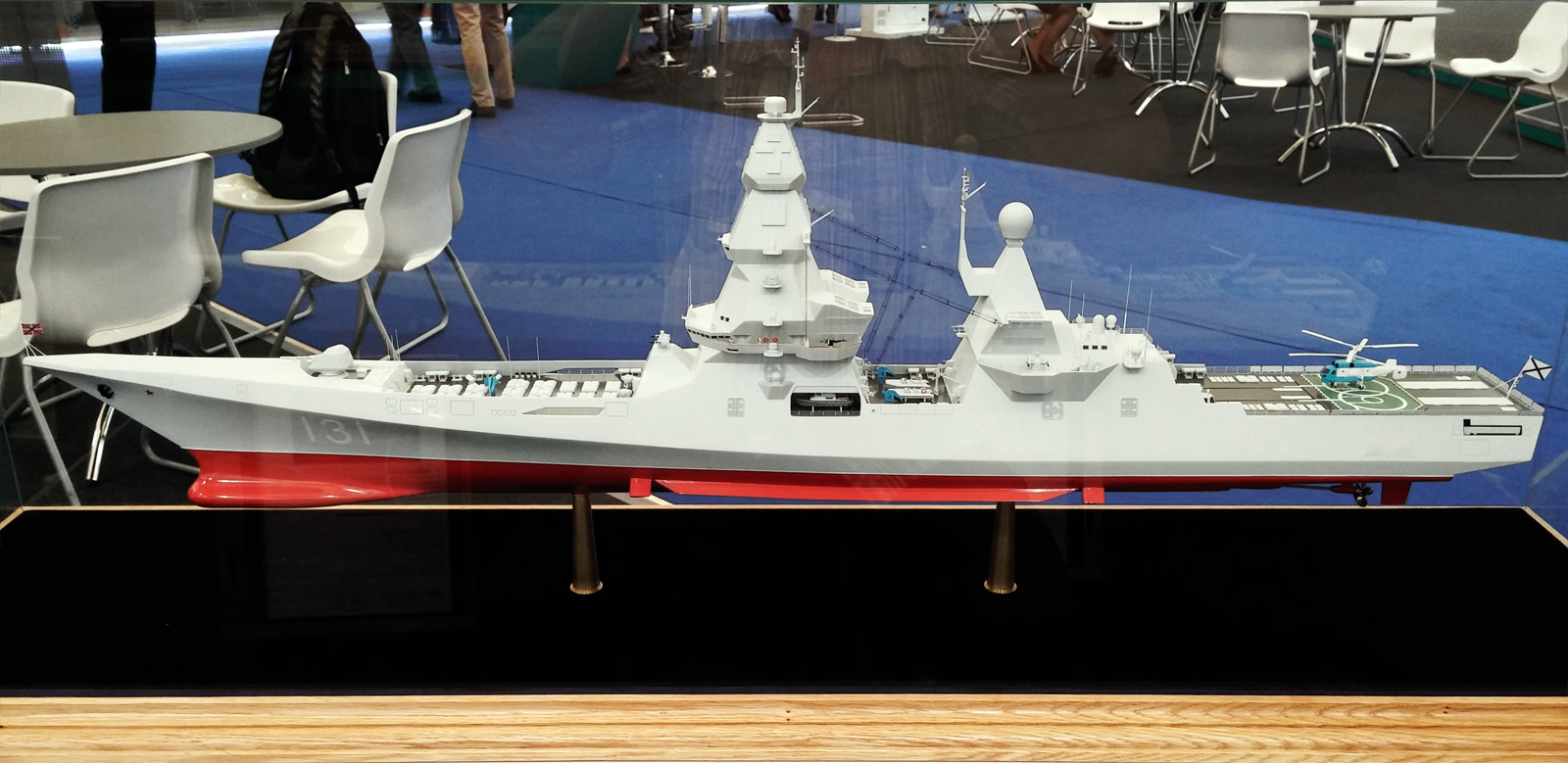 Maquete do destroyer russo classe Leader