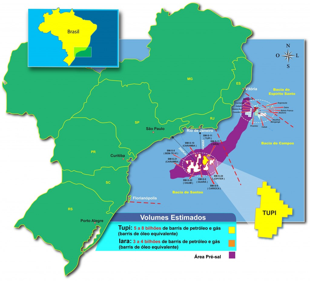 Mapa do Pré-Sal