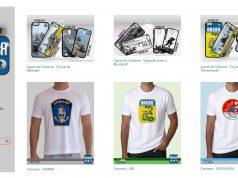 Camisetas e cases da Defesa Store – www.defesastore.com.br