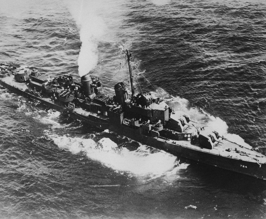 USS Laffey (DD 724) no início da guerra