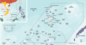 Ilhas disputadas no Mar do Sul da China. (Clicar na imagem para ampliar)