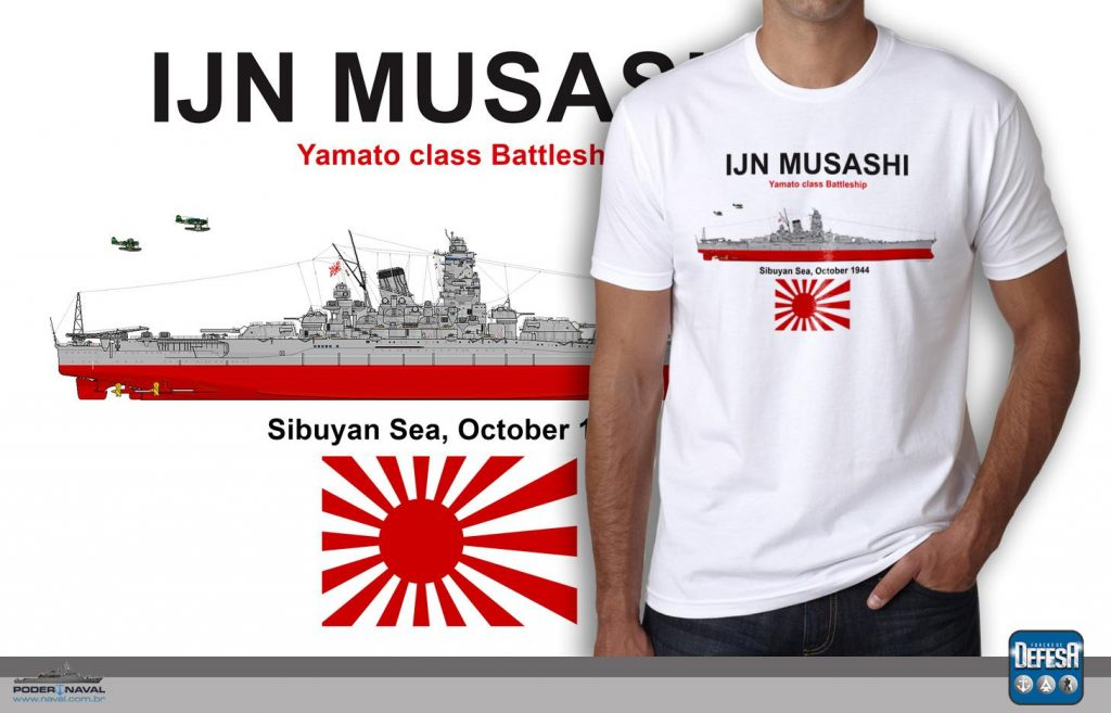 Camiseta do Battleship Musashi  – www.defesastore.com.br