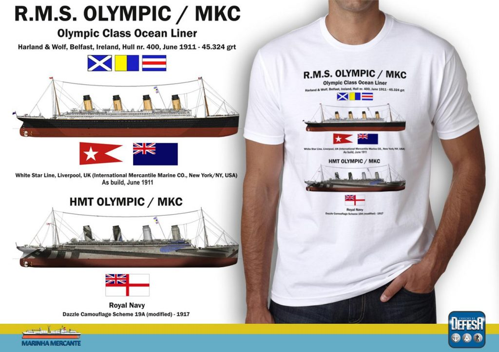 Camiseta do RMS Olympic  – www.defesastore.com.br