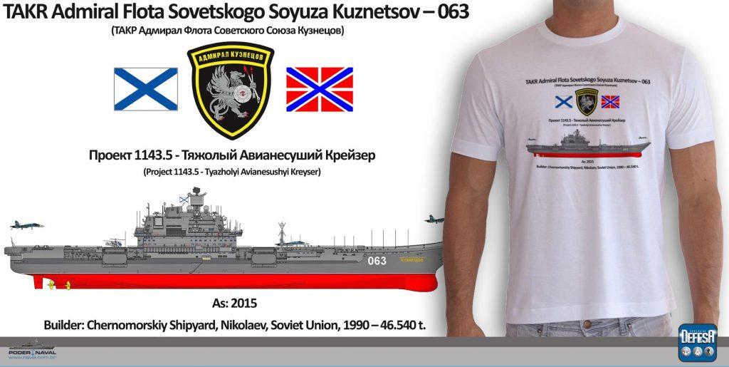 Camiseta do porta-aviões Admiral Kuznetsov