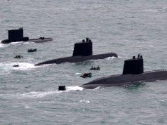 Submarinos argentinos ARA Salta, ARA Santa cruz e ARA San Juan, em foto de arquivo