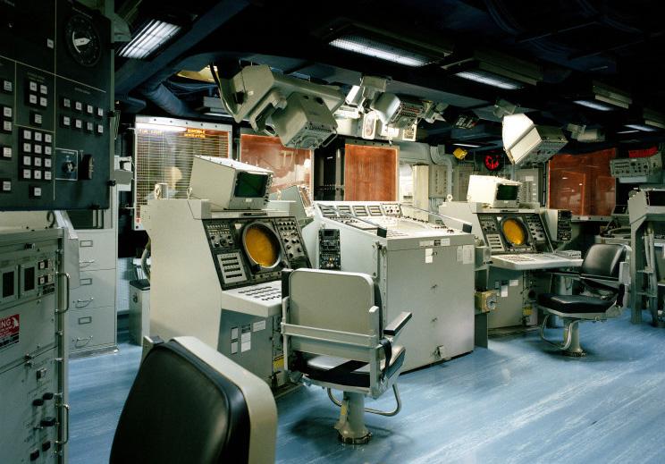 Centro de informações de combate (CIC) da fragat USS Ford (FFG 54)