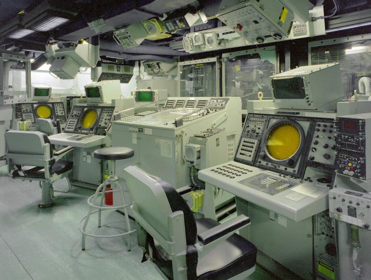 Centro de Informações de Combate da fragata USS Reuben James FFG-57