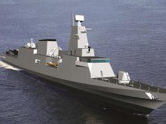 Concepção em 3D da corveta classe Tamandaré projetada pelo CPN