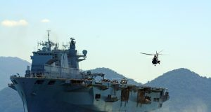 HMS Ocean em visita ao Brasil, em 2010
