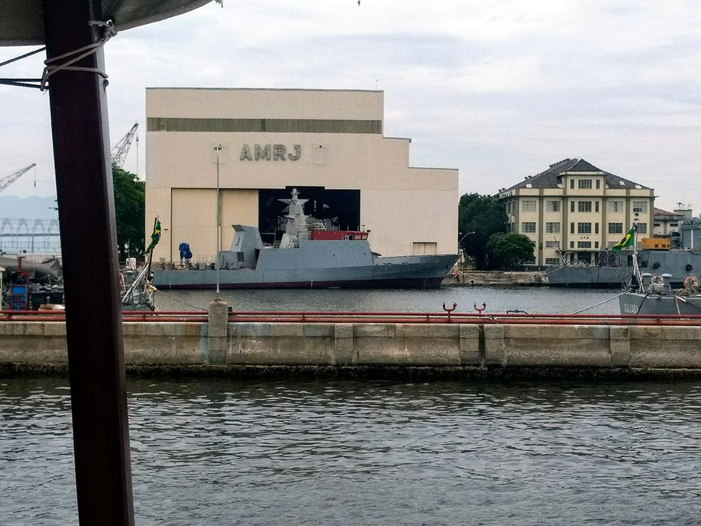 Navio-Patrulha Maracanã em término de construção no AMRJ