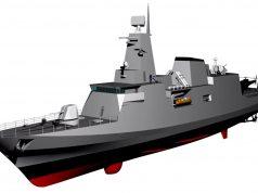 Concepção em 3D da Corveta classe Tamandaré
