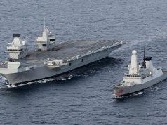 HMS Queen Elizabeth e destróier Type 45
