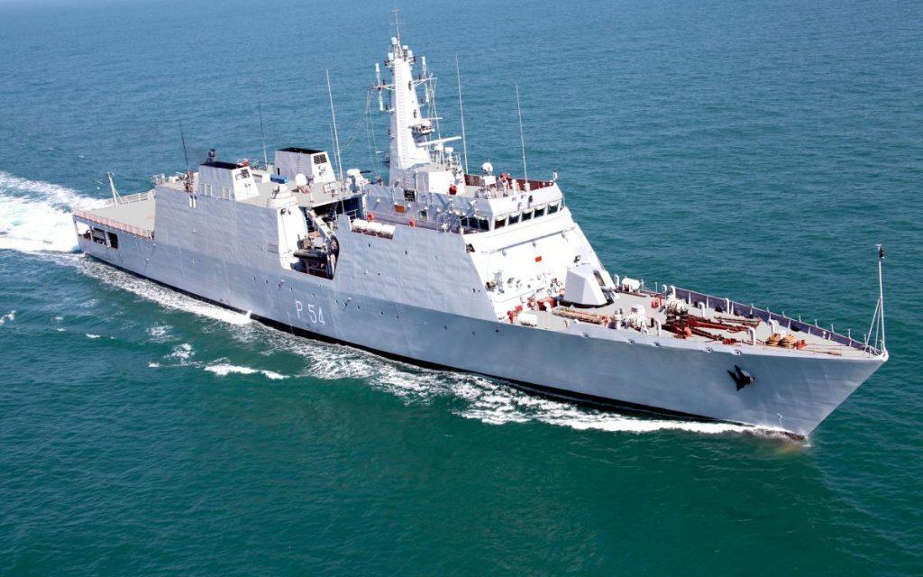 OPV INS Saryu da Marinha Indiana construído pelo Goa Shipyard Limited