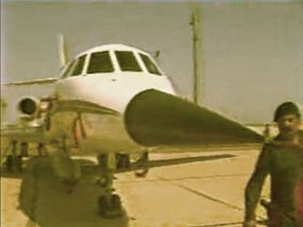 Falcon 50 modificado com nariz de Mirage F1, abrigando o radar multimodo Cyrano IVM