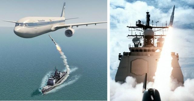 Resultado de imagem para Foto: o cruzador USS Vincennes
