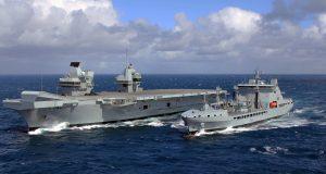 HMS Queen Elizabeth e RFA Tidespring