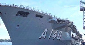 O PHM Atlântico ostentando seu indicativo visual A140