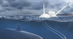 Scorpène 2000 proposto à Polônia, lançando mísseis de cruzeiro - copyright Naval Group