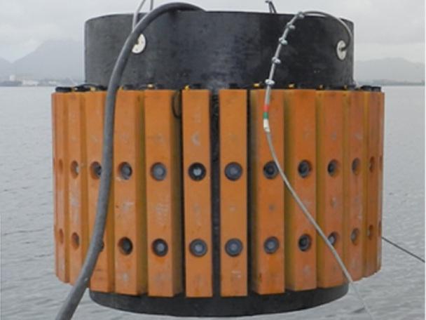 Transdutores do sonar passivo nacional