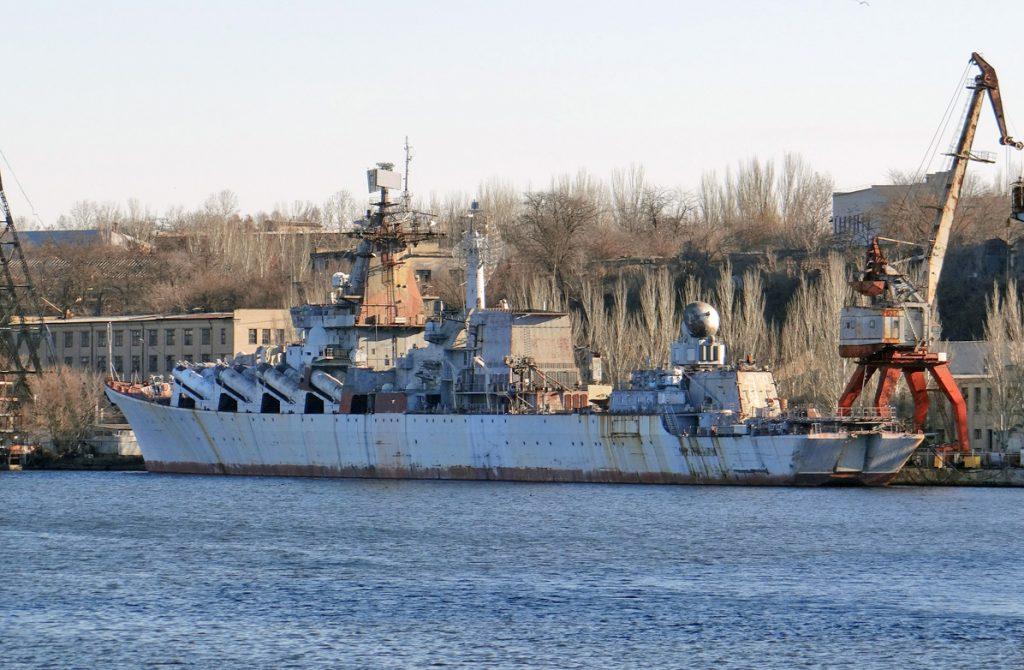 Casco do cruzador Ukrayina da classe Slava